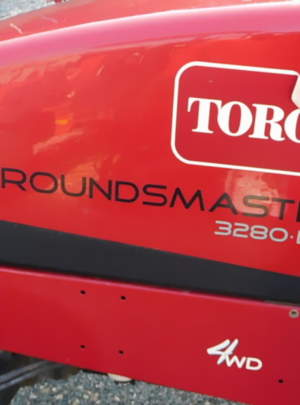 "TORO 3280-D GROUNDSMASTER 2013 (4WD) 72"" Side Discharge Deck/with 1377 Hours."