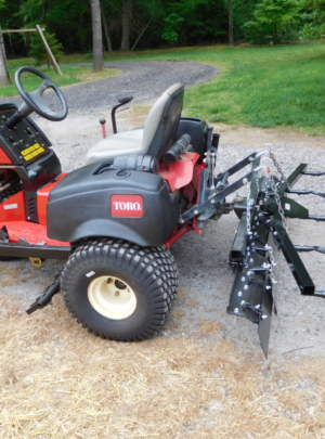 2007 Toro 3040 SandPro, Front Blade, Rear Tooth Rake, Rear Spring Rake and Mid Mount.
