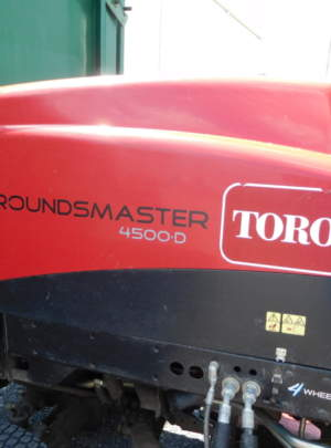 Toro 4500-D Groundsmaster Contour deck mower, free-floating Contour Plus cutting decks